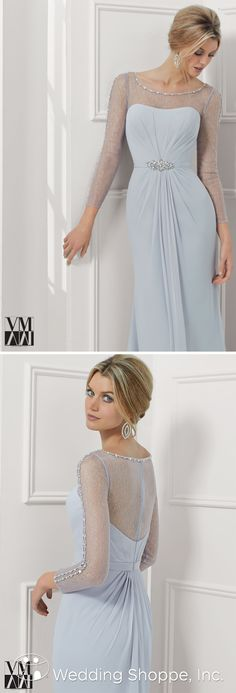 Elegant mother of the bride/groom dress with gorgeous details.