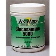 3 PACK GLUCOSAMINE 5000, Size: 16 OUNCE (Catalog Category: Equine Supplements:SUPPLEMENTS) by ANIMED D. $43.94. Aids in the repair of damaged tissue, reduces inflammation and stimulates production of lubricating synovial fluid. Administer orally. Can be mixed with feed. To mature horses and cattle give 4 to 9 tablespoons two to three times daily. Or as recommended by a veterinarian.Ingredients: Contains: 500mg Glucosamine.(Size: 16 OUNCE)