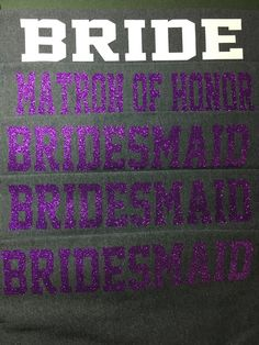 Bridal Party Sweatpants in Regular or Glitter by CraftyLittleBug on Etsy
