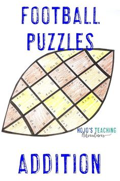 These addition football puzzles are a great way to celebrate the NFL season, college bowl games, the big homecoming game at your local school, the Super Bowl, or to use for the football fanatic in your 1st, 2nd, or 3rd grade classroom or homeschool. Plus there are great FREE downloads, book ideas, math, reading, social studies, food ideas, and more included at this blog post. Click through now to see how your first, second, or third grade students can have some football fun. #football 3rd Grade Classroom, 1st Grade Math, Third Grade, Grade 1, Teaching Addition, Math Addition, Father's Day Activities, Classroom Activities, Classroom Ideas