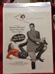 Magazine Page Ad from my Etsy shop https://www.etsy.com/listing/113069488/movie-the-bride-wore-boots-full-page-ad