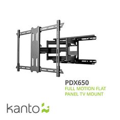 Kanto PDX650 Full Motion Mount for 37-in. to 70-in. Flat Panel TVs- Black
