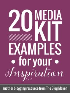 20 Media Kit Examples for Bloggers