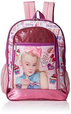 JoJo Siwa Bow Backpack Rucksack Denim Print Large Pocket Back Pack Girls Bag New