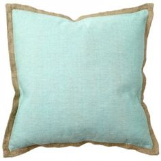 Teal and beige pillow
