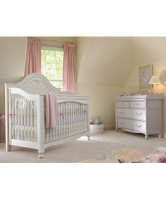 This is the crib, except I got it in a light antique lavender. (The color of the dresser in pic!)