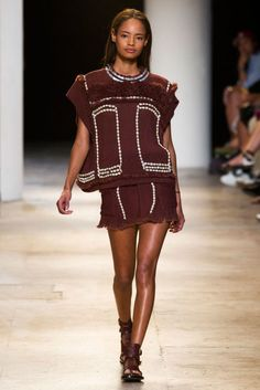 Isabel Marant spring 2015 collection show. Photo: Imaxtree