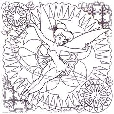 155 Best Disney Tinkerbell Coloring Pages Images On Pinterest In