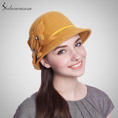 100% Wool From Australian Cloche Fedora Hat Mother Kids Hat Felt Wool Headwear Solid Elegant Flower Decoration Hat Love it? #shop #beauty #Woman's fashion #Products #Hat