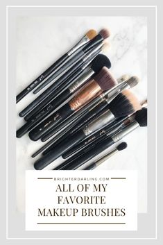 People ask how I get my makeup to look a certain way. The wrong tools affect it majorly! Let's go over my favorite makeup brushes for EVERYTHING. Eyeshadow Crease, Eyeliner Brush, Eyeshadow Brushes, Eyeshadow Tutorials, Makeup Tutorials, Makeup Eyeshadow, Acne Makeup, Eye Makeup Tips, Drugstore Makeup