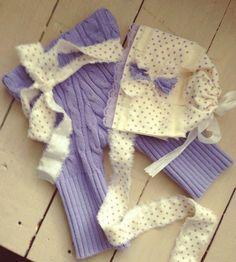 Newborn Pant Set  Pants & Headwrap  Newborn by BabysBreathHandmade, $48.00  Purple & Cream #RTS