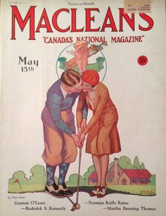 Maclean's Magazine May 1931 Golf Cover
