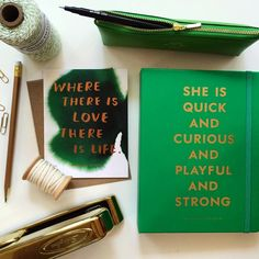 Green goodness from around the shop + all @katespadeny planners are out on the floor in both sizes #shindigpaperie #katespadeny