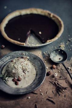 Chocolate Tart, Hazelnut and Rosemary Ice Cream | Jan Hendrik