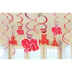 Valentine's Day Foil Swirl Decorations - Party Depot