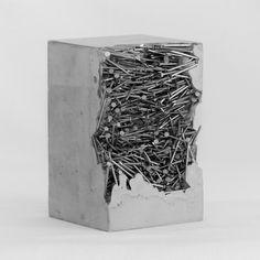 Saatchi Art is pleased to present the sculpture, 'La névrose du hérisson,' by Benoist Van Borren. Original Sculpture: Steel, Concrete on Steel, Other. Size is H x 3 W x 3 in. Cement Art, Concrete Crafts, Concrete Art, Concrete Design, Concrete Sculpture, Steel Sculpture, Sculpture Art, Modern Sculpture, Art Concret