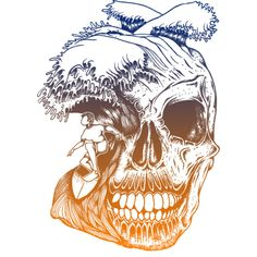 calavera surf is a Men's T Shirt designed by monsterbirdcav to illustrate your life and is available at Design By Humans