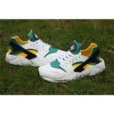 Nike Air Huarache Run Homme Chaussures Blanc Vert Jaune ,Cette paire de chaussures cool, on utilise 234.00 € la vendre, et également le paiement à la livraison, n'hésitez pas!