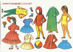 muñecas recortables Holly Hobbie, Diy And Crafts, Crafts For Kids, Paper Crafts, Paper Dolls Printable, All Paper, Vintage Paper Dolls, Retro, Doll Toys