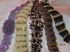 Undulating peyote bracelets, Sova Enterprises