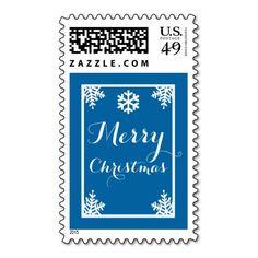 Crystal Snowflake Christmas Postage Stamps