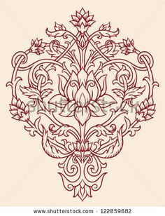 Ornate Lotus Flower Vector by Tairy Greene, via Shutterstock