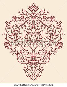 Ornate Lotus Flower Vector by Tairy Greene, via Shutterstock