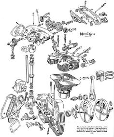 Motorcycle Engine Exploded View Motores De Moto Vi
