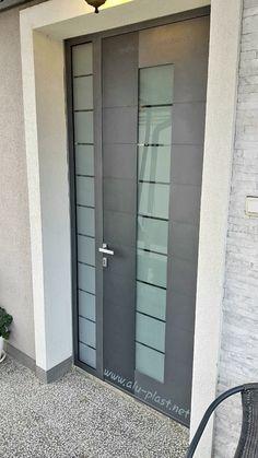 Aluminijumska i PVC stolarija po meri Aluminium Front Door, Tall Cabinet Storage, Garage Doors, Outdoor Decor, Furniture, Home Decor, Decoration Home, Room Decor, Home Furnishings