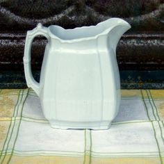 Ironstone Pitcher  Vintage Ironstone  by Countryprimvintage