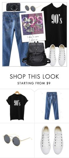 """""""You're from the 70's, but I'm a 90's b****"""" by oliverab ❤ liked on Polyvore featuring Converse, Fujifilm, casual, iconapop, 90s and rosegal"""