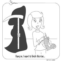 Crochet Humor I thought it would be nice to share with you a couple of laughs. I have't been able to pick up my hooks lately. Knitting Quotes, Knitting Humor, Crochet Humor, Knitting Yarn, Knitting Projects, Crochet Projects, Knitting Patterns, Crochet Patterns, Funny Crochet