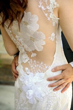 Claire Pettibone gown, photo by Pepper Nix Photography http://ruffledblog.com/backyard-chic-utah-wedding #weddingdress #fashion #bridal