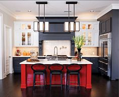 Not sure if I can handle the red island but I like the white, charcoal and red combo color scheme.