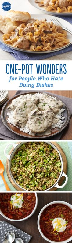No one wants a sink full of dirty dishes after making dinner. These one-pot wonders work perfectly for those who hate the cleaning that comes with meal-prep.