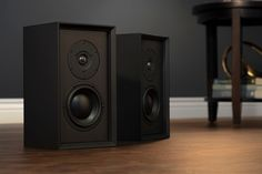 Leon's reference-grade bookshelf Timbre TiUltima speakers provide rich, three-dimensional sound with controlled bass and stunning high frequency detail. Bookshelf Speakers, Bookshelves, Leon Speakers, Whole Home Audio, Small Home Theaters, Romantic Dinner For Two, Surround Speakers, Three Dimensional, Bookcases