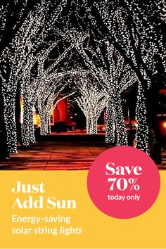 These wireless solar LED string lights are great way to rejuvenate and set a warm mood for your indoor/outdoor home settings. Your solar powered garden lights will remain on for up to 10 HOURS with a full charge and sometimes even longer using the latest LED technology.