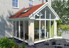 lean to Garden room Conservatory ideas lean to Garden r Lean To Conservatory, Conservatory Design, Garden Room Extensions, House Extensions, Architecture Art Design, Education Architecture, Warm Roof, House Extension Design, Extension Ideas