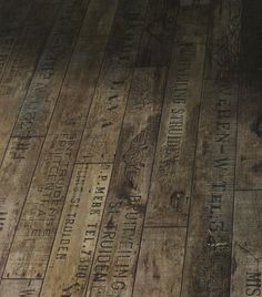 """Floorboards-this adds a new meaning to """"putting your own stamp"""" on a place!"""
