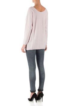 Leeandme Roze trui met v-hals Roze | Winkelstraat.nl