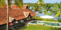 Vaamika Island on Lake Vembanad, Kerala - Romantic island in the north of Lake Vembanad; 2 restored Keralan houses and 3 villas share 7 acres of tropical gardens, a world away from the bustle of nearby Cochin