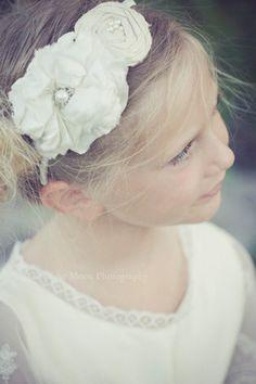 Rosebud Petite Flower Girl Headband by rosebudlips on Etsy, $38.00