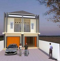 60 Desain Ruko 2 Lantai Minimalis dan Modern   Desainrumahnya.com Minimalist House Design, Minimalist Home, Modern House Design, Interior Architecture, Interior Design, Modern Exterior, Little Houses, House Plans, Places