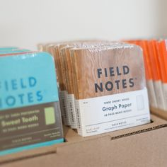 "The Field Notes brand notebooks are one of the go to pocket notebooks in the world. As they say: ""I'm not writing it down to remember it later, I'm writing it down to remember it now""."