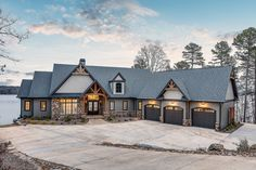 Lake House Plans, New House Plans, Dream House Plans, Custom Home Builders, Custom Homes, Custom Home Designs, Style At Home, Dream House Exterior, Exterior Homes
