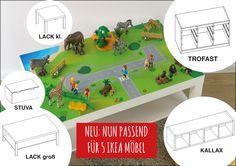 IKEA Hack Kids, Stuva, Trofast, Lack, Kallax, Expedit, DIY, Kids room, Kinderzimmer, Bauernhof, Reitstall, Lego, Playmobil, Unterlage