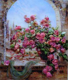 Gallery.ru / Фото #14 - КОЛЛЕКЦИЯ моих работ в одной фотографии - SushkoMarina Cross Stitch Rose, Silk Ribbon Embroidery, Rose Cottage, Pastel Art, Pictures To Paint, Beautiful Birds, Diy Painting, Textile Art, Decoration