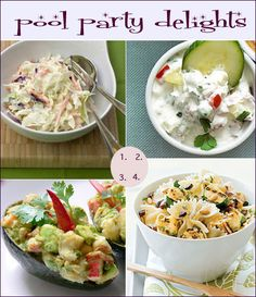 Easy recipes for a pool party