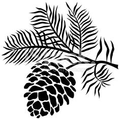 christmas clip art black and white for silhouette - Yahoo Search Results Yahoo Image Search Results Silhouette Cameo, Theme Nature, Arte Tribal, Wood Burning Patterns, Stencil Patterns, Free Vector Art, Pyrography, Pine Cones, Illustration