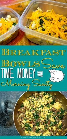 Need a go-to busy morning breakfast? With eggs, sausage and potatoes, these hearty DIY freezer breakfast bowls are perfect! Just 45 minutes on the weekend makes budget friendly breakfasts all week. There's a basic recipe with 8 ridiculously good variations so you never get bored.